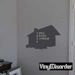 Log Cabin Chalkboard Decal
