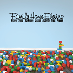 Family Home Evening Wall Decal