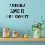 America Love It Or Leave It Decal