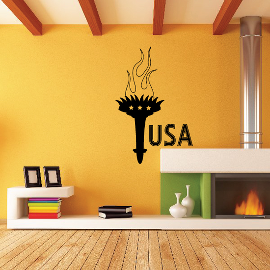 USA Olympic Torch Decal