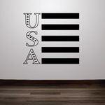 Vertical America Flag USA Wall Decal