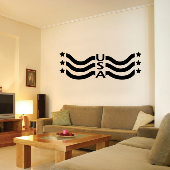 USA Flag Banner Wall Decal