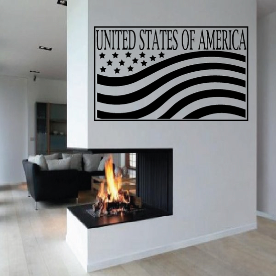 United States of America Flag Wall Decal