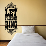 Let Freedom Ring Badge Decal
