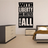Liberty and Justice For All Typography Wall Decal