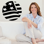 America Flag Circle Decal