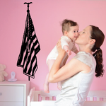 Hanging America Flag Decal
