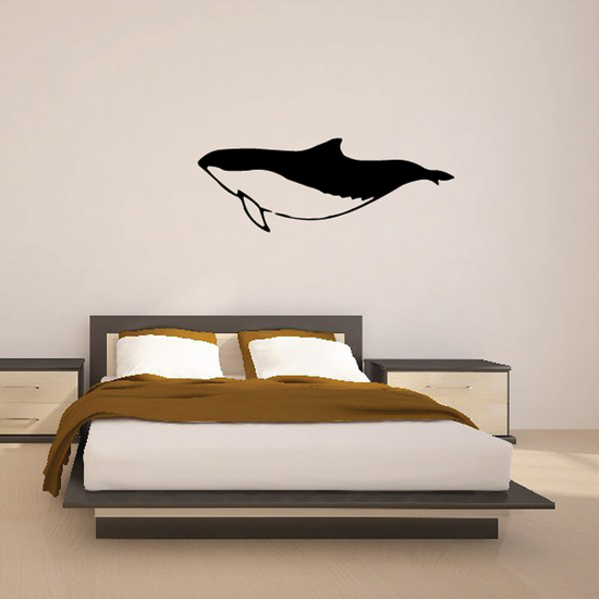 Dusky Swimming Dolphin Decal