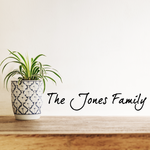 The Custom Family Name family Wall Decal