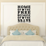Home Of The Free Wall Decal