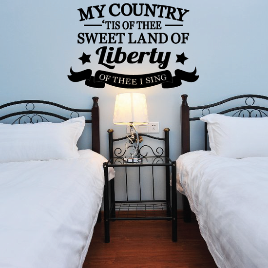 My Country 'Tis Of Thee Wall Decal