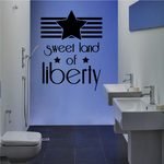 Sweet Land of Liberty Star Wall Decal