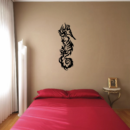 Tribal Tattoo Style Seahorse Decal