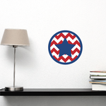 Star and Stripes Printed Die Cut Decal