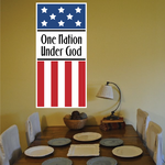 One Nation Under God Printed Die Cut Decal