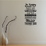 In Happy Moments Praise God Difficult Moments Seek God Decal
