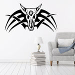 Cow Skul with Tribal Wings Decal