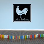 Rooster Cock-a-Doodle-Doo Decal