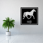 Horse Neigh in Square Design Decal
