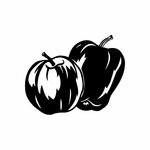 Two Apples Decal