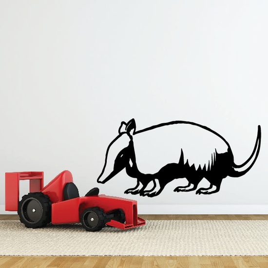Playful Armadillo Decal
