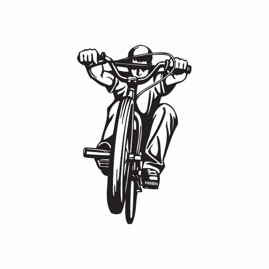 Side Hop BMX Rider Decal