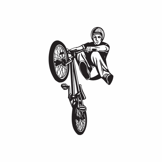 No Foot BMX Rider Decal