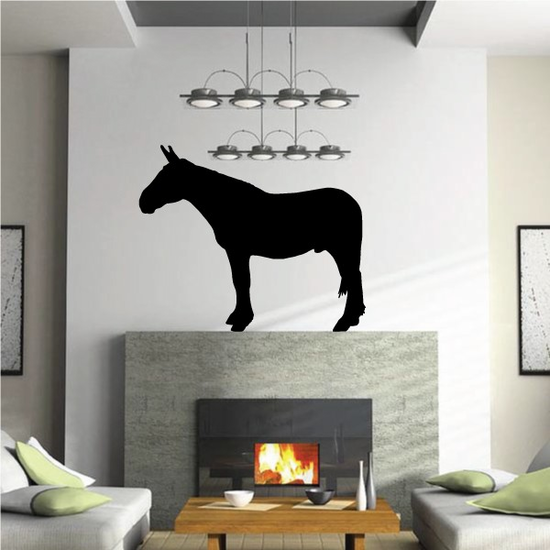 Army Mule Horse Decal