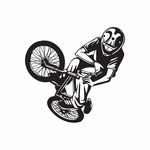 BMX Bike Wall Decal - Vinyl Decal - Car Decal - DC 008