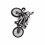 BMX Bike Wall Decal - Vinyl Decal - Car Decal - DC 012