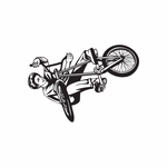 BMX Bike Wall Decal - Vinyl Decal - Car Decal - DC 014