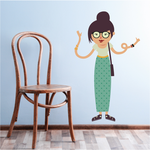 Hipster Girl with Swirly Arm Sticker