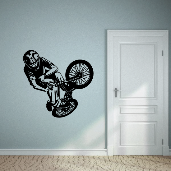 BMX Bike Wall Decal - Vinyl Decal - Car Decal - CDS009