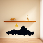 Halloween Dark Clouds and Star Decal