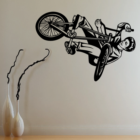 BMX Bike Wall Decal - Vinyl Decal - Car Decal - CDS015