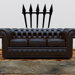 Halloween Spiked Fence Decor Decal