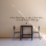 A good marriage is like a good wine it gets better with age Wall Decal