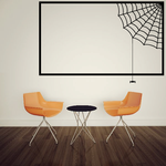 Halloween Spider Web and Rectangle Frame Style Decal