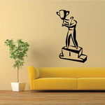 First Place Pedestal Wall Decal - Vinyl Decal - Car Decal - Business Decal - MC25