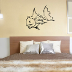 Happy Veiltail Goldfish Decal