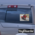 Motorcycle In Loving Memory Custom Rounded Rectangle Sticker