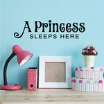 A Princess Sleeps Here Magical Decal