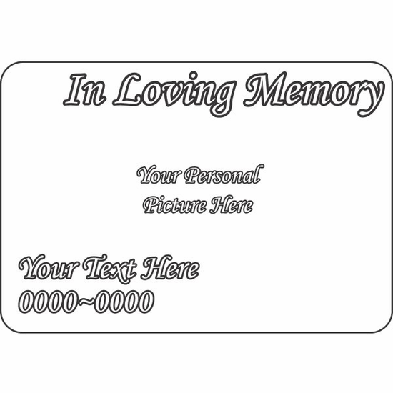 Custom Image In Loving Memory Custom Rounded Rectangle Sticker
