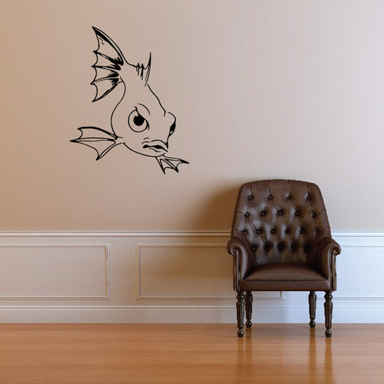Cartoon Glaring Goldfish Decal
