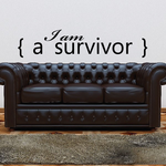 I am a survivor brackets Decal