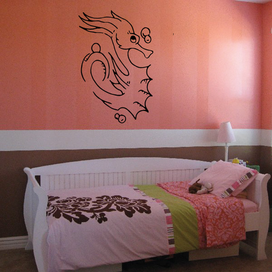 Bubbly Seahorse Decal
