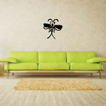 Split Tail Insect Flying Decal