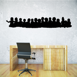 Young Children in a line Decal