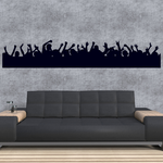 Partying Concert Fans Decal