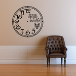 Be Your Own Kind of Beautiful Clock Wall Decal